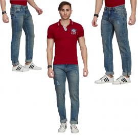 Denim Vistara Blue Men's Torn Jeans