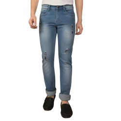 Denim Vistara Comfort Fit Blue Torn Men Jeans