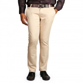 Denim Vistara Men's Slim Fit Off-White Trouser