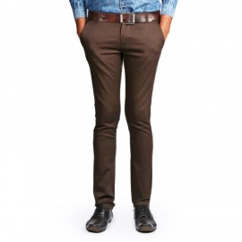 Denim Vistara Brown Colour Trouser For Men's