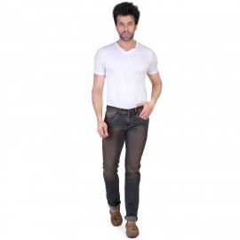 Denim Vistara Men's Black Slim Fit Jeans