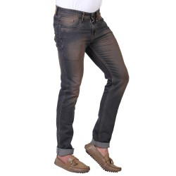Denim Vistara Men's Dark Blue Torn Ripped Slim Fit Jeans