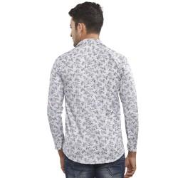 Royal Spider Men's Casual Printed White Shirt