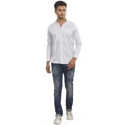 Royal Spider Men's Stylish White Casual Shirt