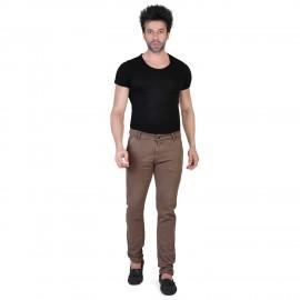 Denim Vistara Men's Brown Slim Fit Jeans