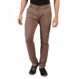 Denim Vistara Men's Brown Comfort Jeans