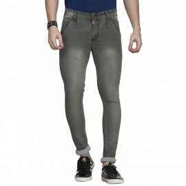 Denim Vistara Men's Grey Coloured Comfort Fit Jeans