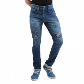 Denim Vistara Men Blue Damage Jeans