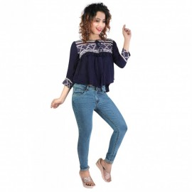 Denim Vistara Women Blue Skinny Jeans