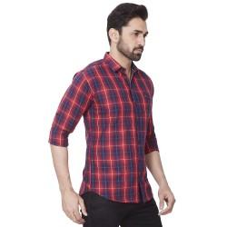Kaprido - Men Soft Smart Checks Shirt