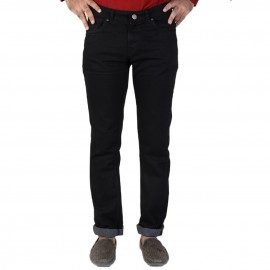 Denim Vistara Men's Black Colored Slim Fit Jeans