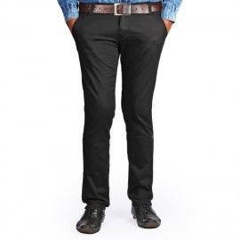 Denim Vistara Black Trouser For Men's