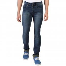 Denim Vistara Men's Khaki Colored Slim Fit Jeans