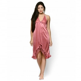 Vistara Women's Satin Nighty DV-N004