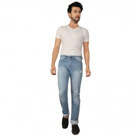 Denim Vistara Damage Comfort Fit Torn Jeans