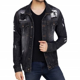 Royal Spider Men's Full Sleeves Denim Jacket RS-0003