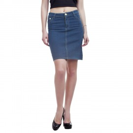 Denim Vistara Blue Denim Skirt for Women