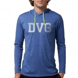 DVG - Men's Blue hooded t-shirts DVG-T005