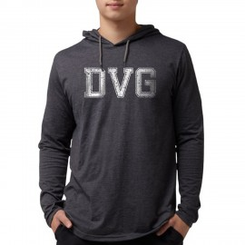 DVG - Men's Blue hooded t-shirts