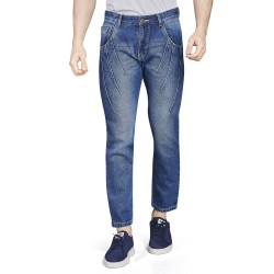 Royal Spider - Men's Comfort Fit Blue Jeans